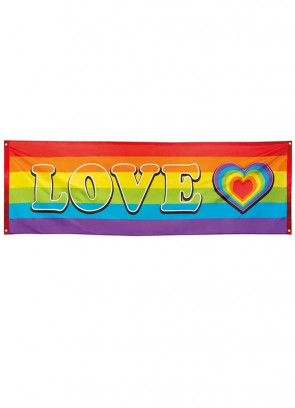 Rainbow Love Banner 7ft x 2.5ft