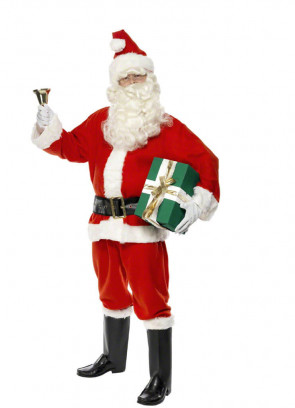 Santa Suit 6 Piece Costume