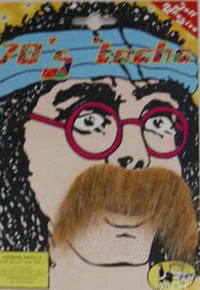 70s Blonde Moustache