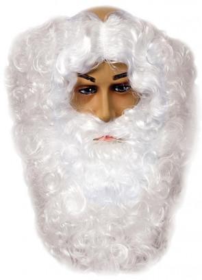 Santa Wig/Beard (Monks-pat design wig) White