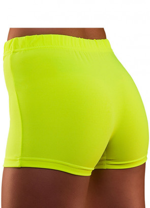 80s Hot Pants Neon Yellow