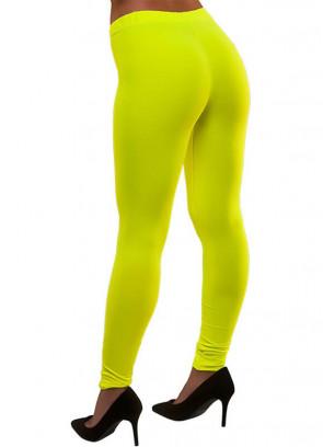 80s Leggings Neon Yellow