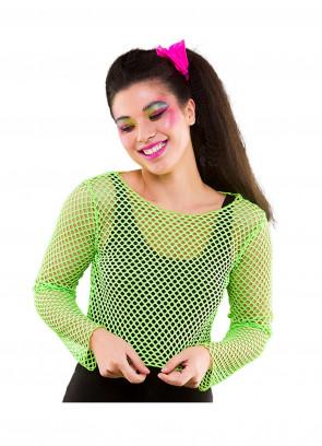 80's Mesh Crop Top - Neon Green