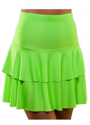 80s Ra Ra Skirt Neon Green