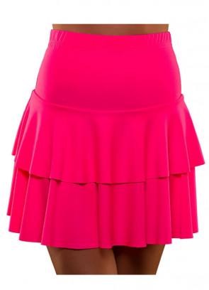 80s Ra Ra Skirt Neon Pink