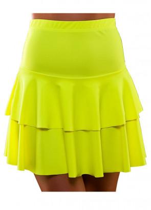 80s Ra Ra Skirt Neon Yellow