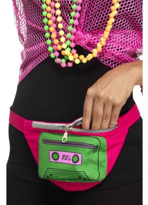 """80s Bumbag - Green Cassette - up to 38"""" Waist"""