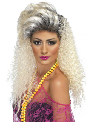 80's Bottle Blonde wig - Crimp