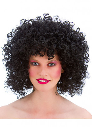 80s Perm Disco Wig (Black)