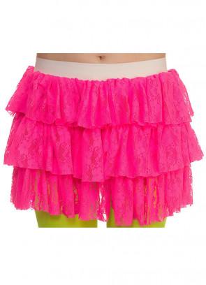 80's Lacy Ra Ra Skirt Pink