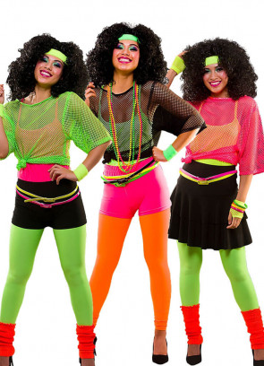 80s Leggings Neon Yellow