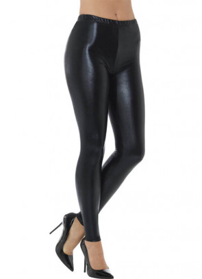 80's Black Disco Leggings