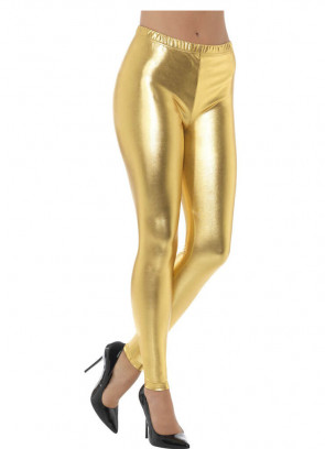 80's Gold Disco Leggings