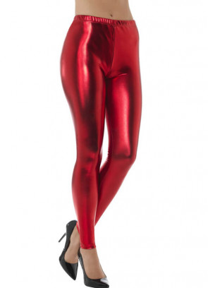 80's Red Disco Leggings
