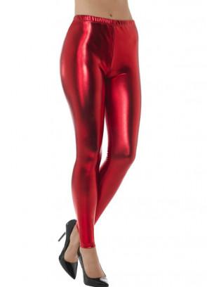 80's Red Disco Leggings