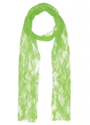 80s Neon Green Lace Scarf