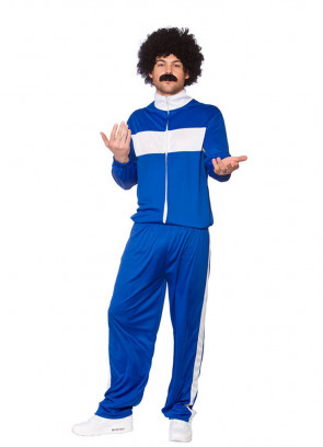 80s Retro Trackie Blue (Shell Suit) Costume