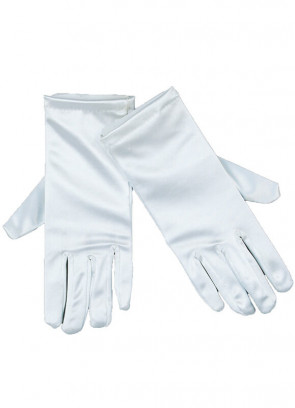 White Satin Adult Gloves