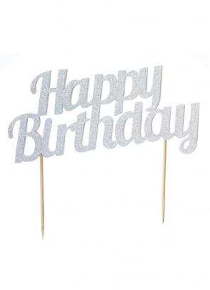 Happy Birthday Diamond Cake Topper