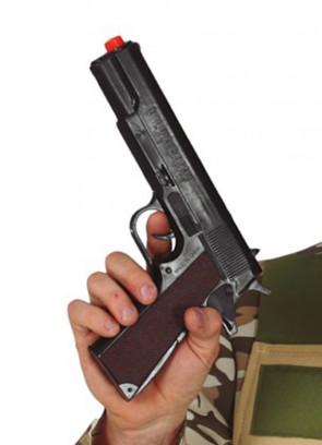 Black 9mm SWAT Pistol - 25cm