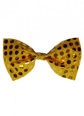 Bowtie Gold Sequin
