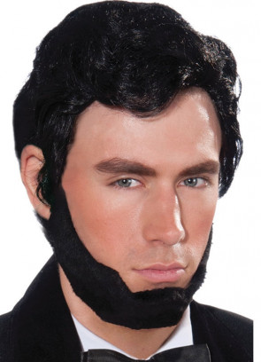 Abraham Lincoln - Black Wig and Beard