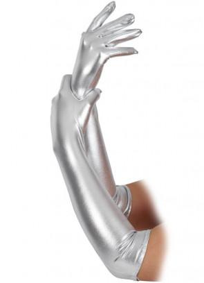 Silver Gloves (Elbow Length)