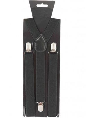Black Trouser Braces / Suspenders