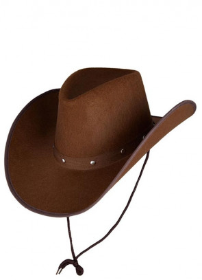 Texas Dark Brown Studded Cowboy Hat