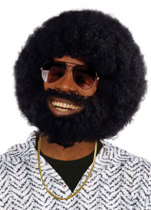 Afro Beard And Wig
