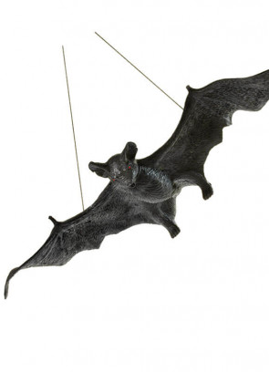 "Giant Hanging Bat Halloween Prop - 41cm/23"" wing span"
