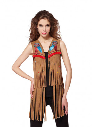 Ladies American Indian/ Hippy Waistcoat