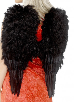 Angel Wings Black Marabou Feather (Medium) 50cm x 60cm