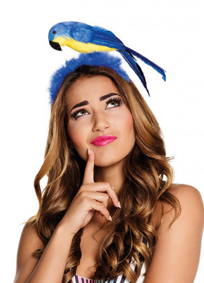 Assorted Feather Parrot on Headband