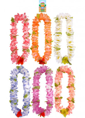 Hawaiian Flower Lei 12 Pack