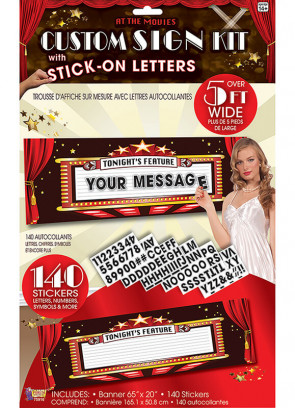 At the Movies Custom Sign Maker Kit with 140 stickers