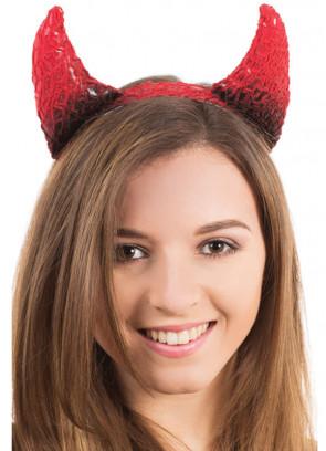 Devil Horns Black & Red Mesh