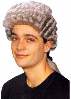 Grey Barrister Wig