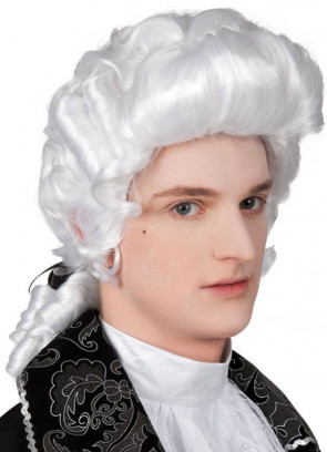 Baroque Male White Wig