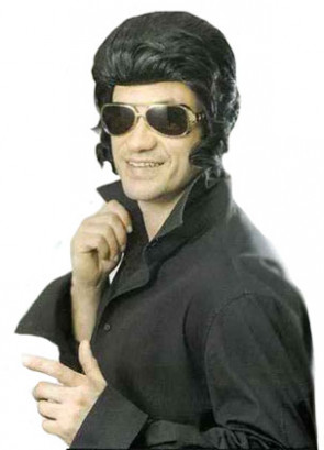 The-King - Black Quiff Wig (Greaser)