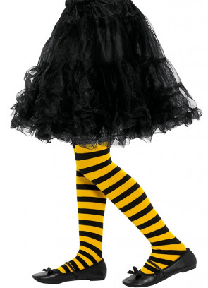 Bumblebee Tights – Yellow & Black Striped – Kids