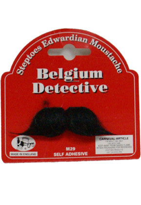 Belgium Detective Moustache
