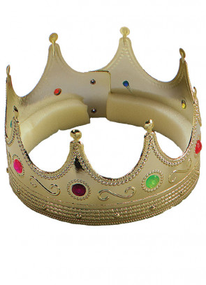 Gold crown with jewels (foam lined)