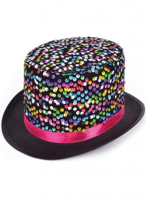 Rainbow Top Hat - Sequin