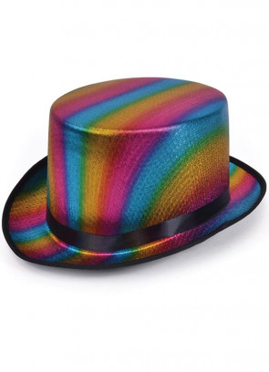 Rainbow Top Hat – Satin