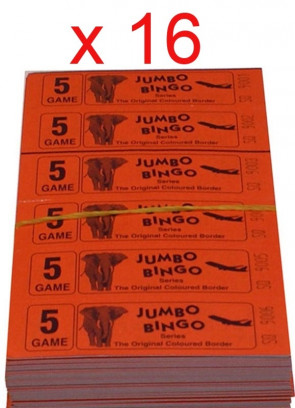 BINGO: 5 Game - 1 Carton - 16 Bundles