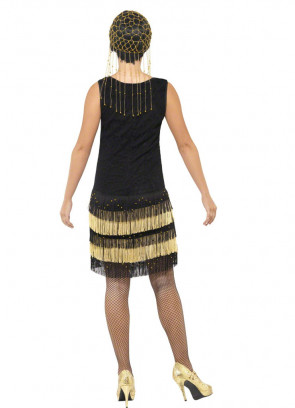 Fringed Flapper - Gold - Costume