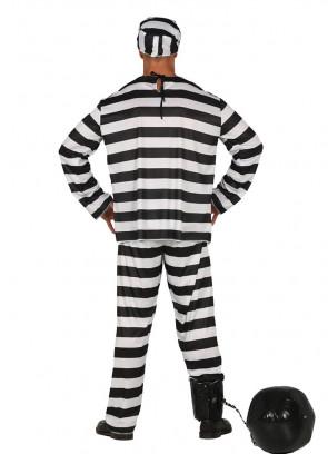 Black & White Striped Prisoner 69 Costume