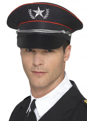Military Hat – Black and Red
