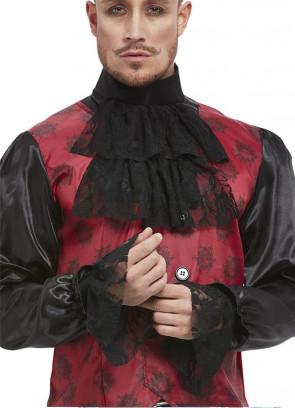 Black Cravat & Cuff Set